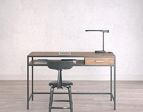 Work Desk Industrial Small 3D model