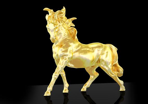 Running horse Figure Sculpture Printable 3D print model
