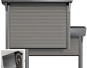 3D model Metal industrial high speed door with horizontal