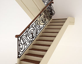Classic Stair 3D model staircase