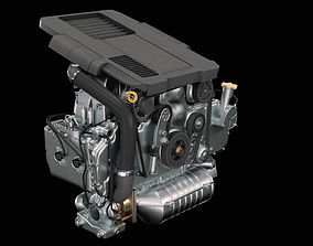 3D Car Engine engine