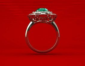 Emeral ring for queen 3D print model
