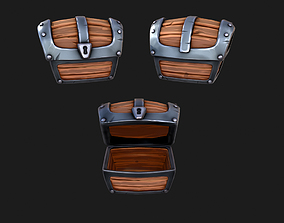 3D model animated Simple Toon Chest - PBR
