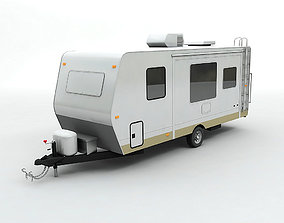 3D Travel Trailer Toy Hauler 1-Axle