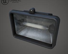 3D asset Flood light 2