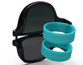 Foldable sunglasses 3D