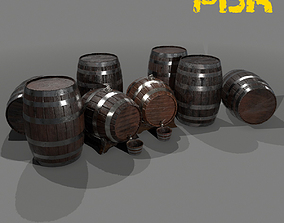 3D model Whiskey and Wine Barrels