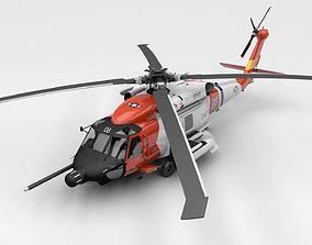 3D model low-poly SH-60 Sea Hawk Coast Guard