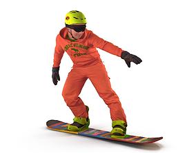 3D asset Snowboarder