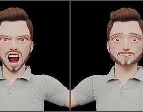 3D model Rigged Stylized Character Man in Blender Cycles 1
