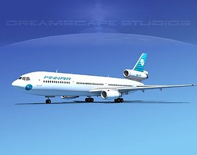 3D Douglas DC-10 Finnair