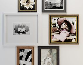Pottery Barn Polished Gallery Wall 3D asset