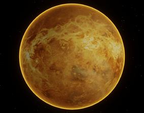3D Photorealistic Planet Venus -Transparent Background