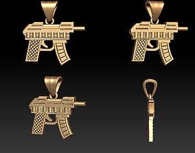 Gun pendant 3D printable model