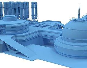 3D Sci-fi gas storage base