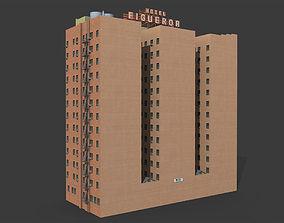 Figueroa Hotel Building 3D model realtime