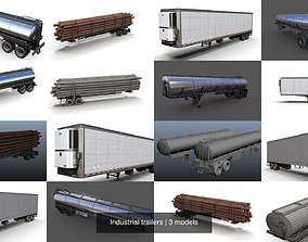 3D model Industrial trailers