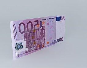 500 Euro Note 3D model