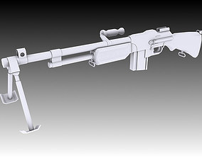 3D model Browning Automatic Rifle firearm
