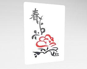 3D model Mahjong v1 038