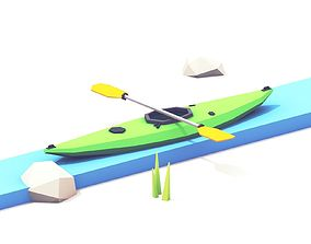 3D model Low Poly Kayak