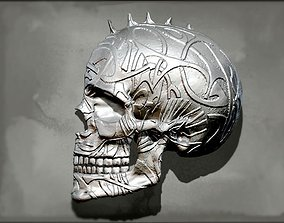 3D printable model Punk Skull Wall Decor