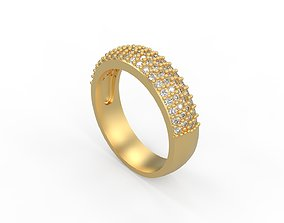 Woman Solitaire Ring 309 3D print model