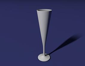 3D print model Flute glass