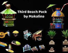 Third Stylized Beach Pack 3D model