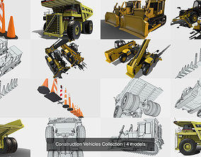 3D model cones Construction Vehicles Collection