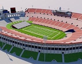 3D asset game-ready Los Angeles Memorial Coliseum