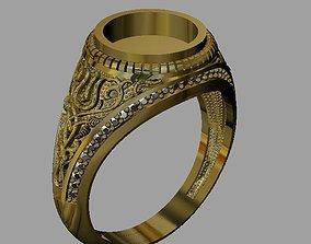 engagement 3D print model men ring