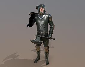 3D model animated TAB Medieval Knight - 7B - Skin3
