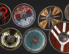 GameReady Medieval Viking Shield Pack 3D model