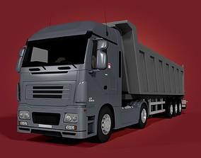 3D long Tipping Truck - Trailer