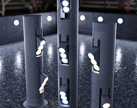 3D Bollard Garden Lighting