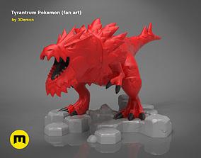 Tyrantrum Pokemon - fan art 3D print model games-toys