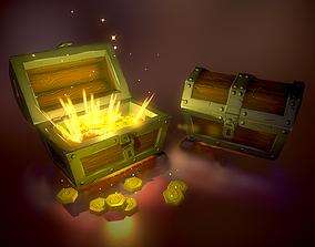 box 3D model game-ready Treasure Chest