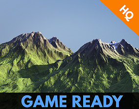 Game Ready Modular Mountain Model Cliff Rocks 3D asset 2