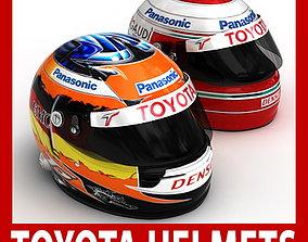 Helmet F1 2009 Jarno Trulli and Timo Glock 3D