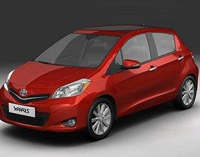 2012 Toyota Yaris Vitz 3D model