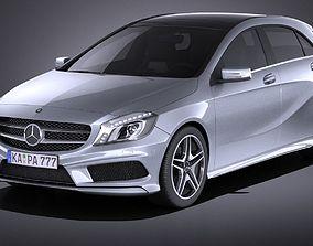 3D model Mercedes A-class 2013 VRAY