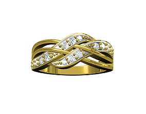 bangle 3D print model ladies ring