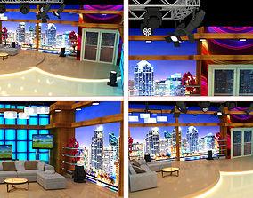 3D Tv Show Studio Decoration