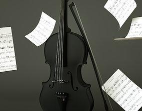 realtime Violin 3D Model