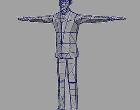 3D paper man D