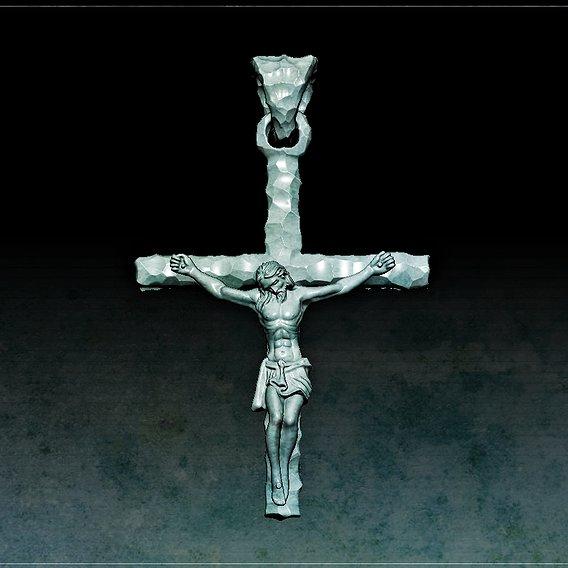 Jesus hammer gold pendant
