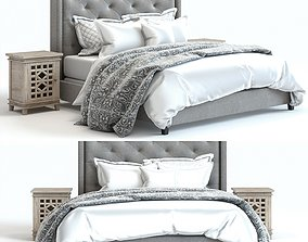 3D model Pottery Barn - Harper Bed and Luella Nighstand