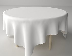 3D model Table and Cloth