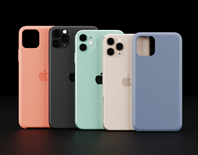 Apple Models and Cases Of iPhone 11 and 11 Pro 3D asset 4